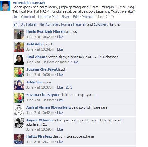 Komen rakan facebook