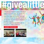 Muka hadapan laman web www.givealittle.my